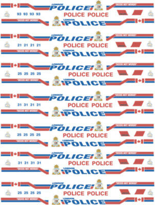 1/26 Scale London Ontario Police Decals -  For Welly Ford Crown Victoria
