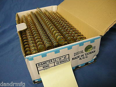 """Lot Of Gold 9/16"""" 19 Ring Binding Spines For Office School College Presentation"""
