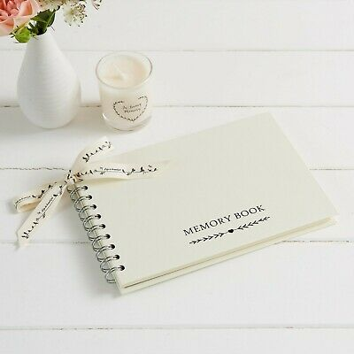 A5 Luxury Ivory Memory Condolence Book for Funeral Celebration of Life Memorial
