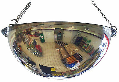 "#1 Industrial Rated 18"" Dia. POLYCARBONATE Safety & Security Full Dome Mirror"