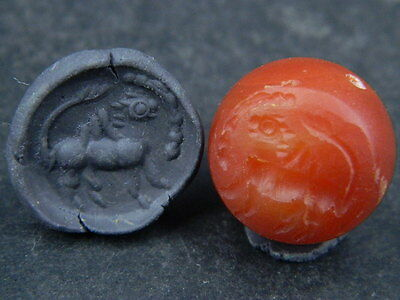 Ancient Agate Bead Seal/Stamp Near Eastern C.300 BC   #STC124 • CAD $56.70