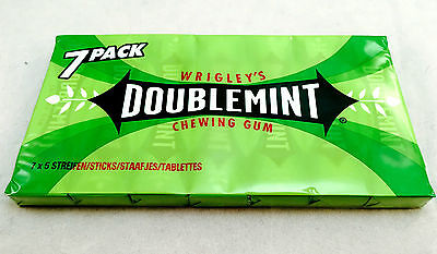 1x Wrigley´s Doublemint Chewing Gum 7er Pack 91g (10g/0,36€)
