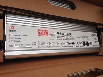 HLG-600H-36A Mean Well LED Power Supplies 600W 48V 12.5A IP65 Dimming CV+CC