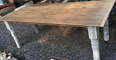 Nice Large Harvest Table 35 X 84 Long Great Patina