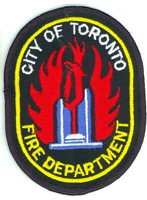 Vintage City of Toronto Fire Department Uniform Patch Ontario ON Canada
