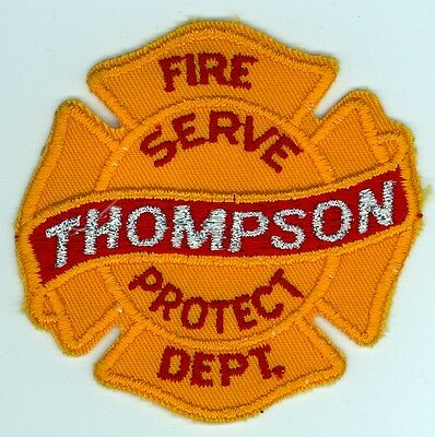 Vintage Thompson Fire Department Uniform Patch Manitoba MB Canada
