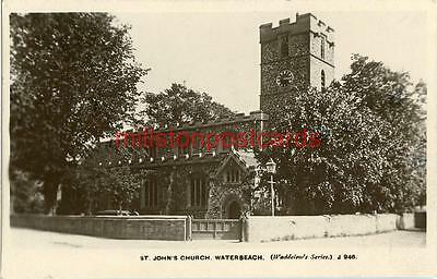 Real Photographic Postcard Of St. John's Church, Waterbeach, Cambridgeshire