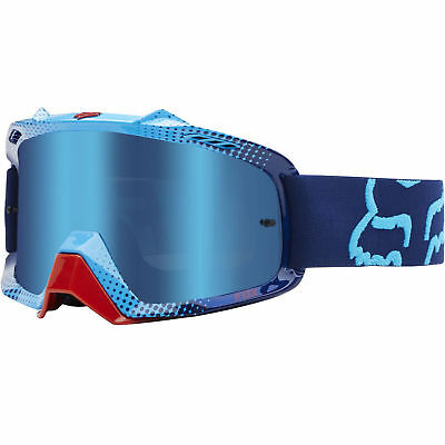 Fox Mx Airspc 360 Race Red Blue Spark Lens Adult Motocross Bike Bmx Goggles