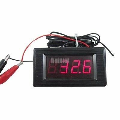 DC 12V Red Digital Thermometer High Low Alarm -60~125C Temperature w Temp Probe