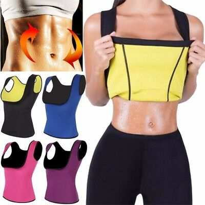Extreme Thermo Cami Belly Belt Shaper Faja Sauna Vest Sweat Waist Wrap Tummy Hot