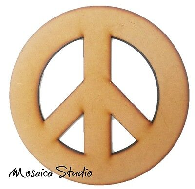 Peace Sign - Wooden Cut-out 300x300mm