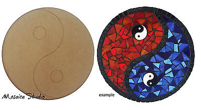 Yin and Yang - Wooden Cut-out 300x300mm