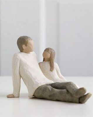 FATHER AND DAUGHTER Willow Tree figurine 26031 New