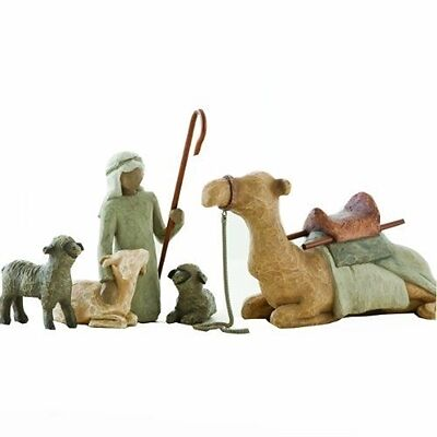 SHEPHERD AND STABLE ANIMALS Willow Tree Nativity figurines
