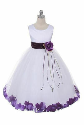 Maya White And Lilac Flower Girl Dress In Stock