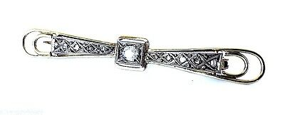 14ct Yellow and White gold 9 stone Diamond brooch