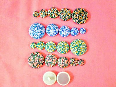 """""""LIBERTY""""Salt &pepper""""FABRIC COVERED BUTTONS avail.in 12,15, 20, 25, 30mm sizes."""