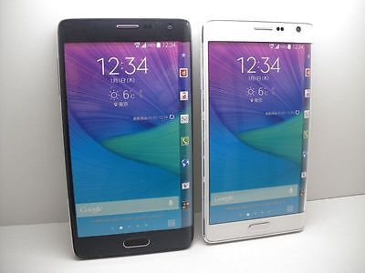 NTT docomo SC-01G GALAXY note edge Non-working Display Phone 2 color set