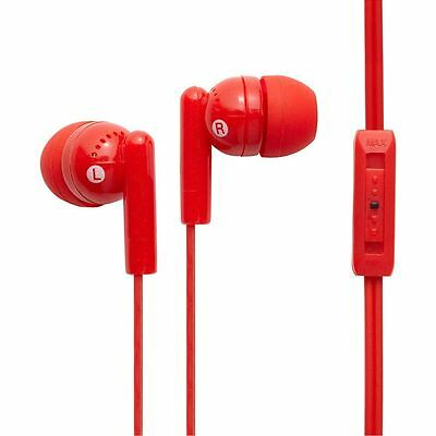 Kandy Plus Earphones with Volume Control - Red By Groov-e