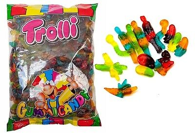 2 kg x TROLLI HORROR MIX LOLLIES BULK PARTY FAVOR LOLLY CANDY FAVOUR BAGS