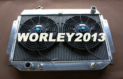 Aluminum radiator + fans for HOLDEN HQ HJ HX HZ 253 & 308 V8 Holden engine