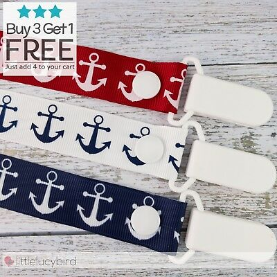 Anchors Dummy Clip - Pacifier Clips - Soother Chain - Baby Gift