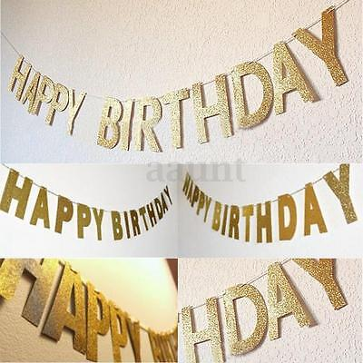 3m Happy Birthday Party Banner Bunting Lettle Garland Hanging Decor Photo Props