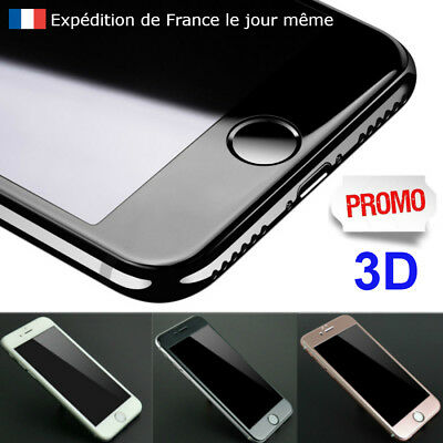 VITRE verre trempé 3D  Iphone 6 / 6S  - Film PROTECTION ECRAN- Blanc Noir Rose