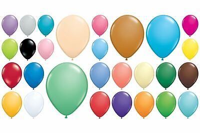 "100 Qualatex Standard Finish 5"" Small Round Latex Balloons Choose Colour"