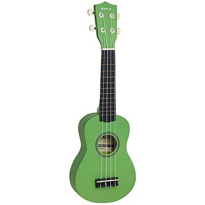 Groov-e Traditional Soprano Ukulele with Carry Case - Green