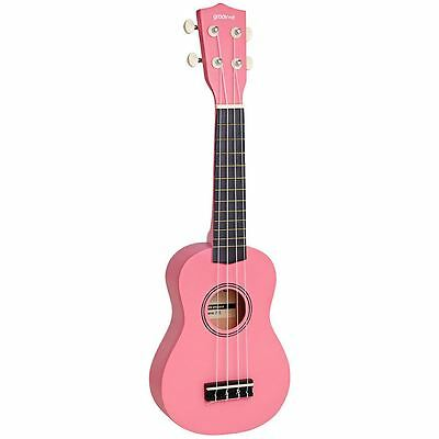 Groov-e Traditional Soprano Ukulele with Carry Case - Pink