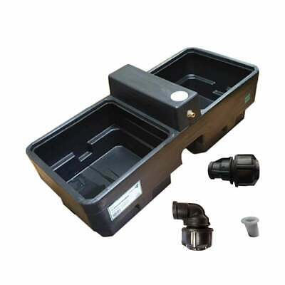 New Titan 30Gal Horse/Cattle Drinker Water Trough + Pipe Connector/Pipe Liner