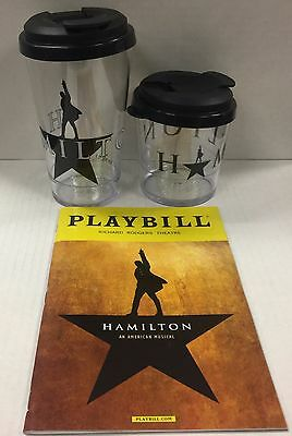 Hamilton The Musical Combo Package Large & Small Souvenir Cups + Playbill