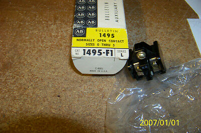 nib allen bradley 1495-f1 auxiliary contact sizes 0-5 1 n.o.