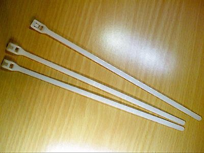 Lot of 10 NSI Natural White Cable Ties 7 Inches 50 lbs IL750