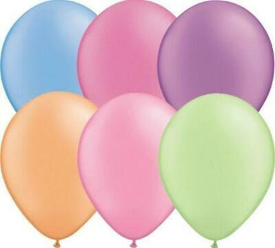 "100 x 11"" Qualatex Neon Latex Balloons Suitable for air or helium"