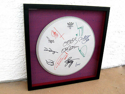 2002 Ozzfest Signed Autographed Drum Head Framed