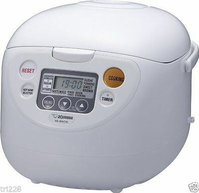 Zojirushi NS-WAC18-WD  10 -Cup (Uncooked) Micom Rice Cooker and Warmer New