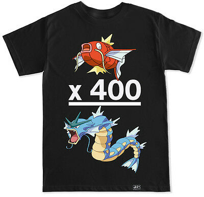Magikarp 400 Gyarados Pokemon Go Team Instinct Valor Mystic Game Funny T Shirt