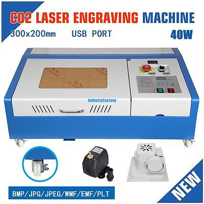 Movable 40W CO2 USB Laser Engraving Cutting Engraver Cutter 300x200mm