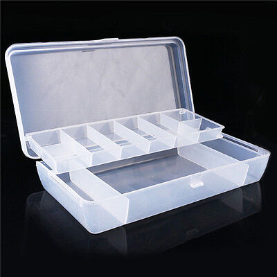 2 Tray Tackle Tool Box Fishing Box Storage Box for Fishing Accessorie Hooks Lure