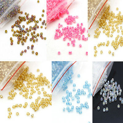 2mm Mixed Colors Scattered Spacers Glass Beads Handmade Jewellery Making 1200pcs