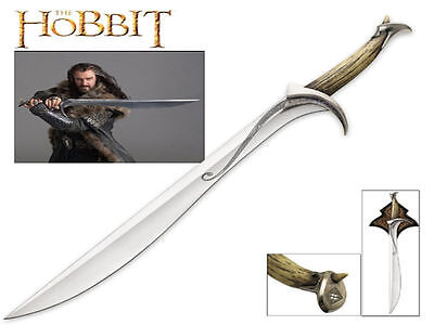 The Hobbit - Orcrist, Sword of Thorin Oakenshield (100cm) with Wood Plaque - New
