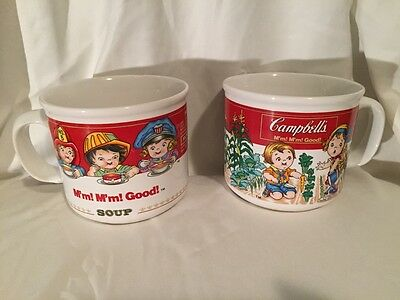 2 Vintage Campbell's Soup Cups