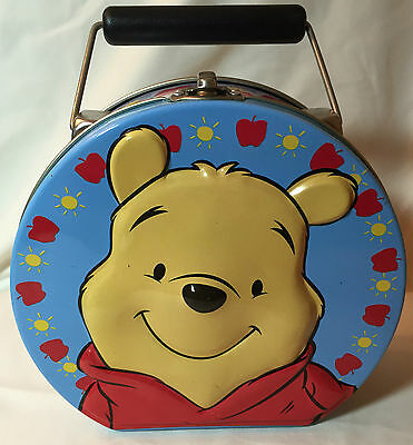 Disney Winnie The Pooh Mini Metal Tin Lunch Box