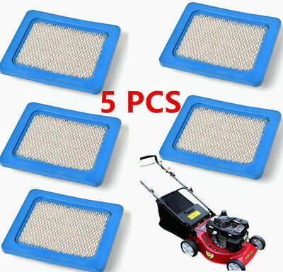 5 Pack Air Filters For Briggs & Stratton 491588 5043 399959 Honda 17211-Zl8-023