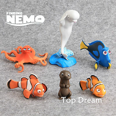 NEW Cartoon Movie Finding Nemo Dory Set of 6 Action Figures Toy Cake Toppers