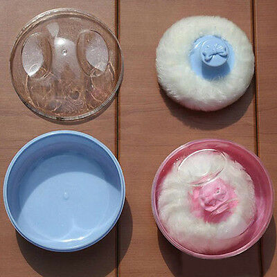 Baby Soft Face Body Powder Puff Sponge Box Container Case Safty Cool Quality