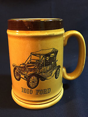 Rare Vintage Mug Made In Japan With A Picture of a 1910 Ford.