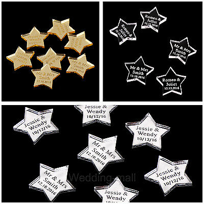Personalised Wedding Mr & Mrs Star shape Favours Table Decoration Confetti Gift